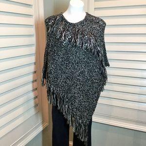 Express Crochet Fringe Poncho, OS